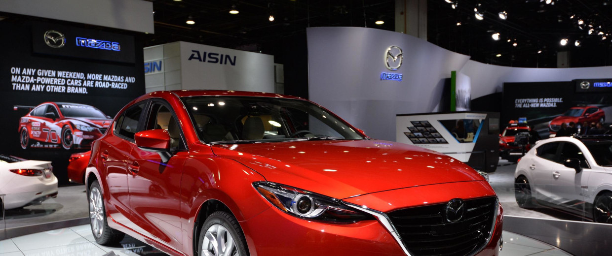 The 2014 Mazda 3 sedan at the North American International Auto Show in Detroit. Mazda and Subaru are stealing a lot of thunder from the bigger automakers.