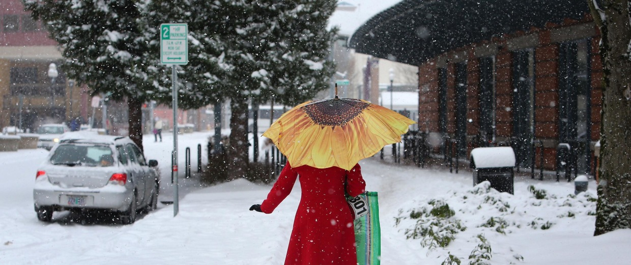Image: Snow in Eugene, Ore.