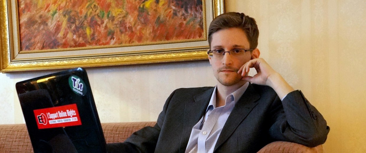 Image: Edward Snowden Gives First Interview In Russia