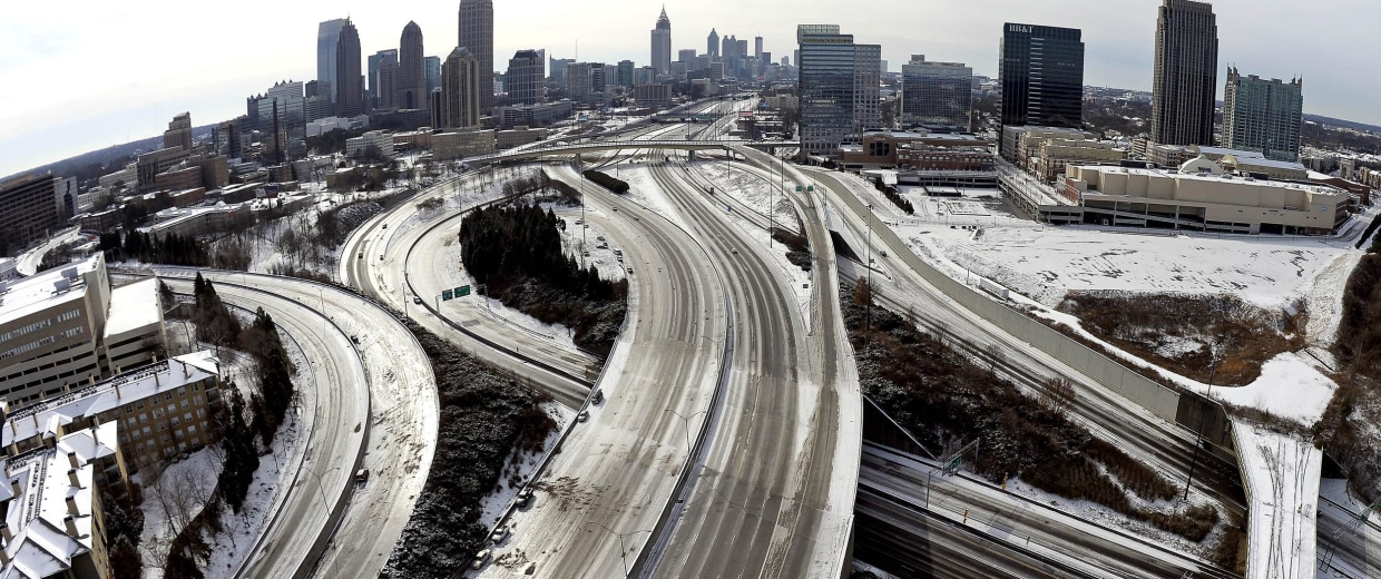 Image: Downtown Atlanta on Jan. 29.