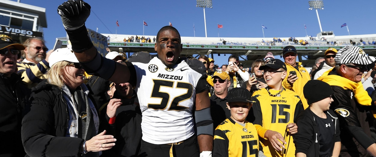 Image: Michael Sam #52 of the Missouri Tigers
