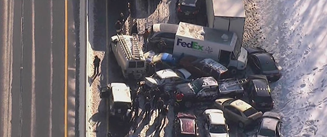 Image: Accident on the turnpike