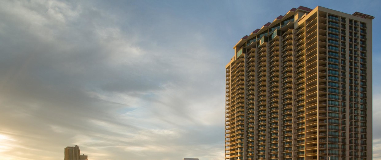 Image: The Phoenix West II condominium building is one of more than 60 remapped out of the highest-risk flood zones in Orange Beach and Gulf Shores, Alabama