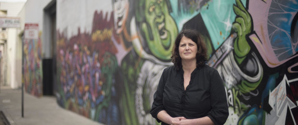 Image: Tracey Helton, a former heroin addict turned activist for drug abuser health care