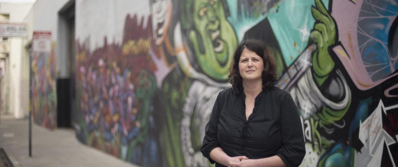 Image: Tracey Helton, a former heroin addict turned activist for drug abuser health care