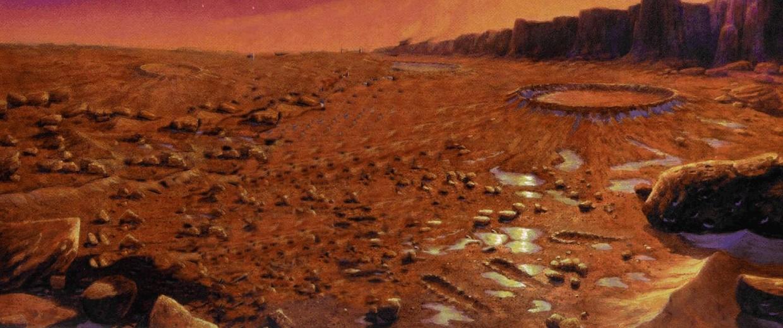 Illustration: Martian landscape