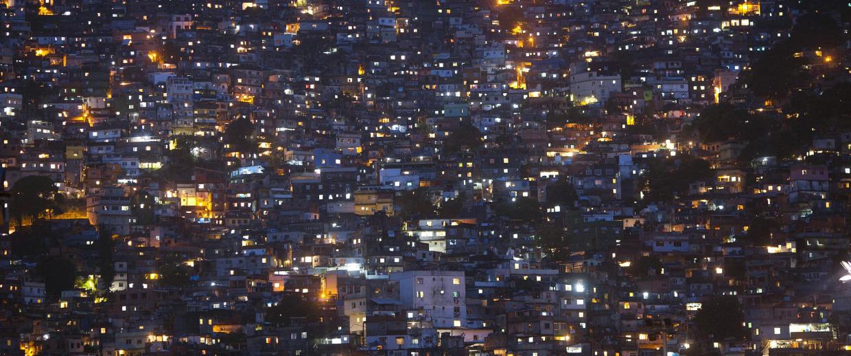 Image: A general view of the Rocinha slum in Rio de Janeiro, Brazil