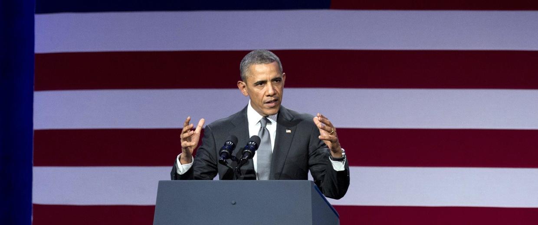 Image: President Barack Obama speaks at the National Organizing Summit in Washington