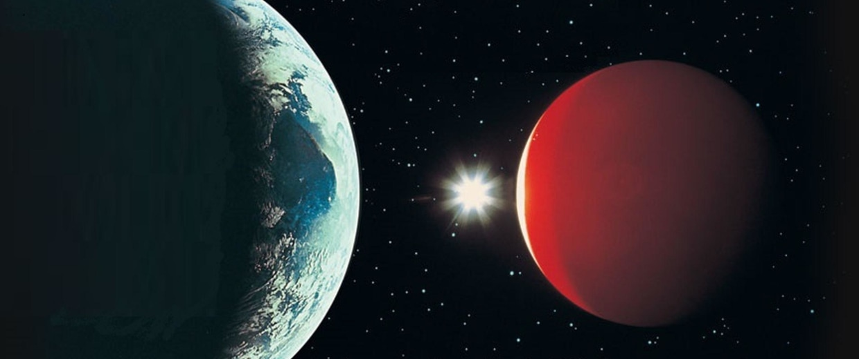 Image: Earth and Mars