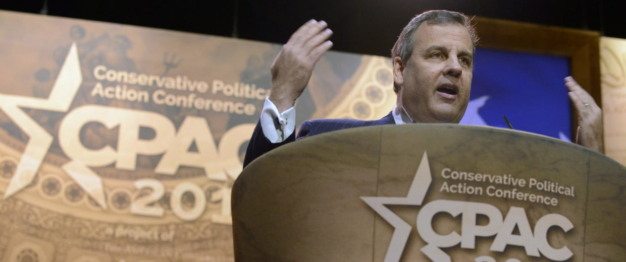 Image: New Jersey Gov Chris Christie attends Conservative Political Action Conference in Oxon Hill
