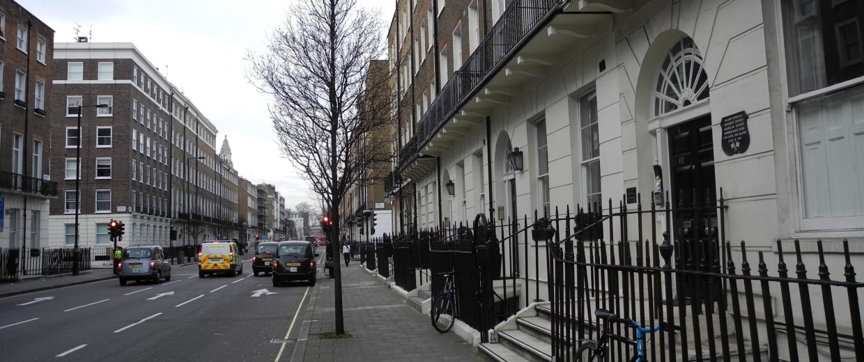 Benedict Arnold lived in a house, right, in London's Marylebone neighborhood until his death in 1801.