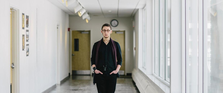 Image: High School student and director Max Novick
