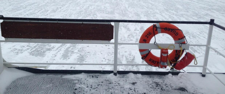 Image: Fozen Lake Superior near the Duluth harbor