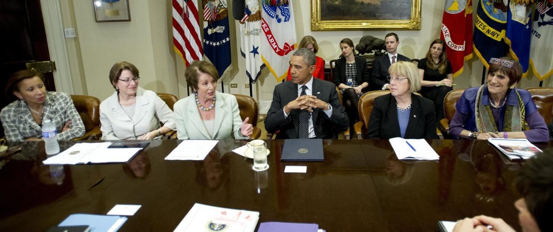 Image: Obama Meets Women Members of Congress