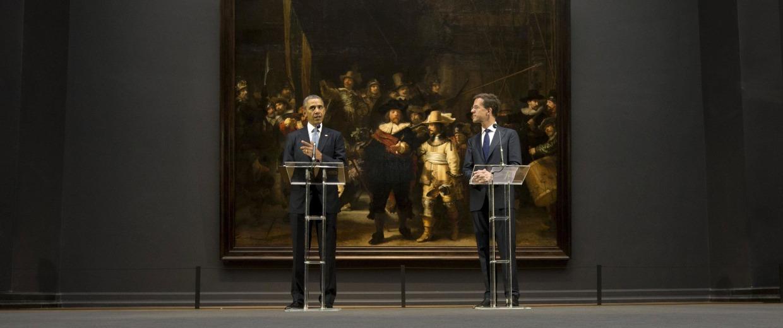 Image: Barack Obama, Mark Rutte
