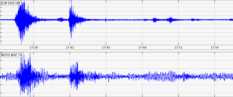 Image: Seismic activity