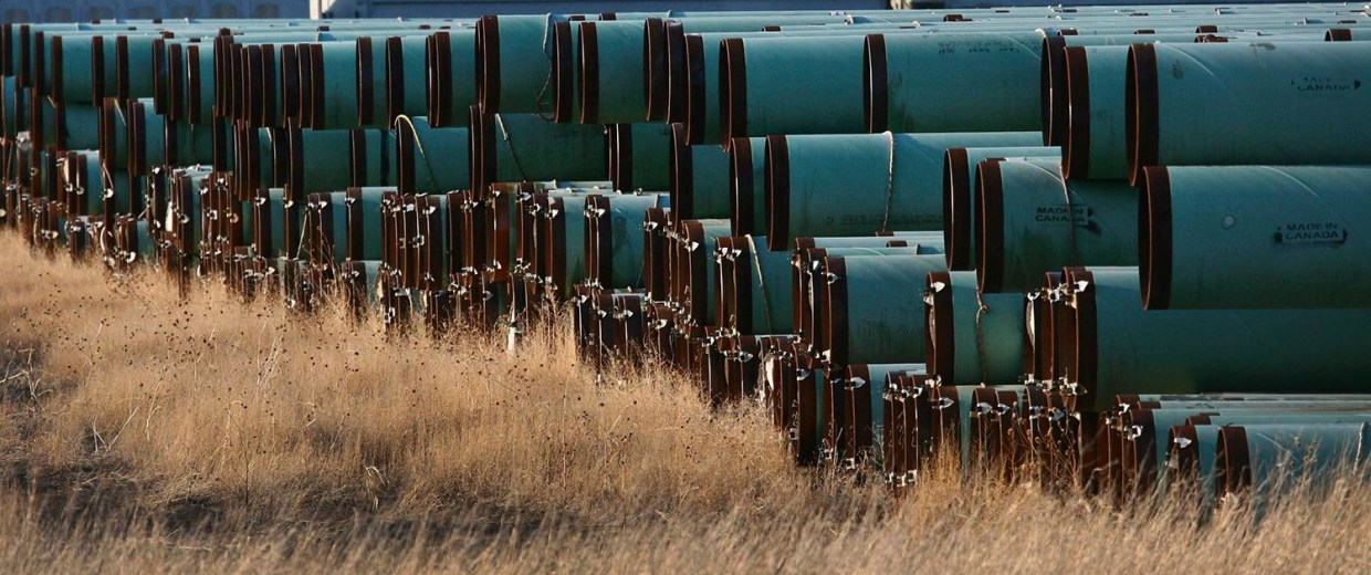 Image: Pipes for TransCanada Corp.'s Keystone XL pipeline
