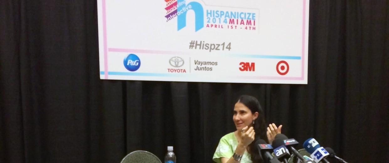 Image: Cuban blogger Yoani Sanchez traveled to Miami to attend Hispanicize 2014, where she received a Latinovator Award