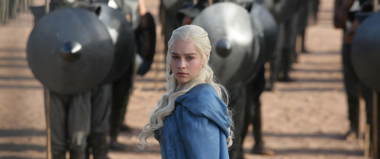 """Image: Emilia Clarke in a scene from """"Game of Thrones."""""""