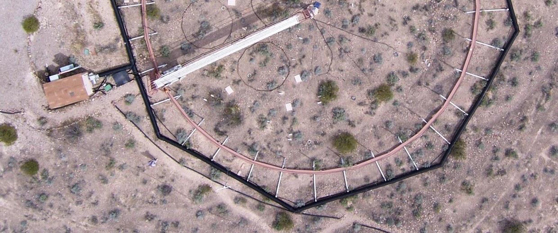 Image: Desert test plot