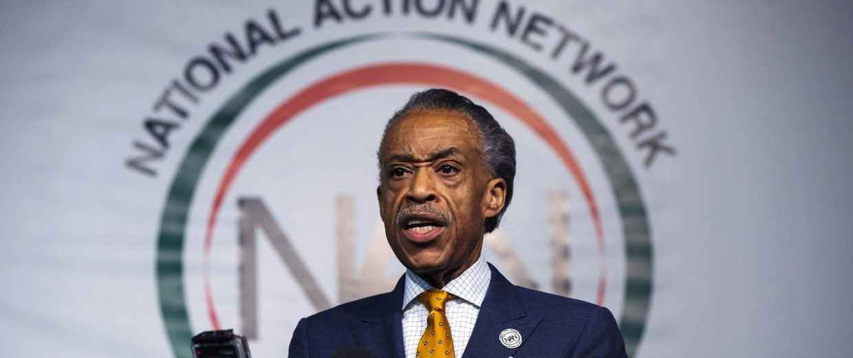 Image: Reverend Al Sharpton speaks during a news conference in New York