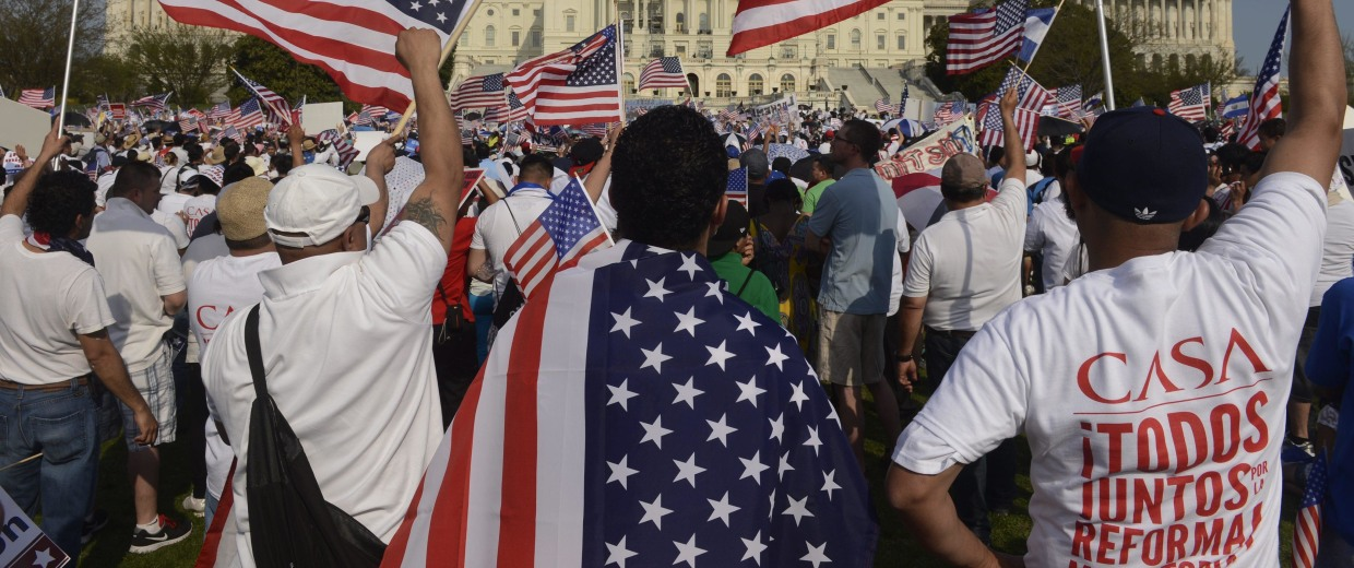Image: Rally for comprehensive immigration reform on the West Front of the US Capitol