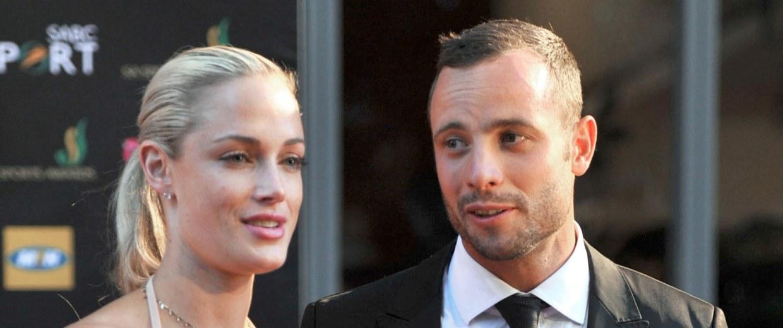 Image: South Africa's Olympic sprint star Oscar Pistorius and his model girlfriend Reeva Steenkamp