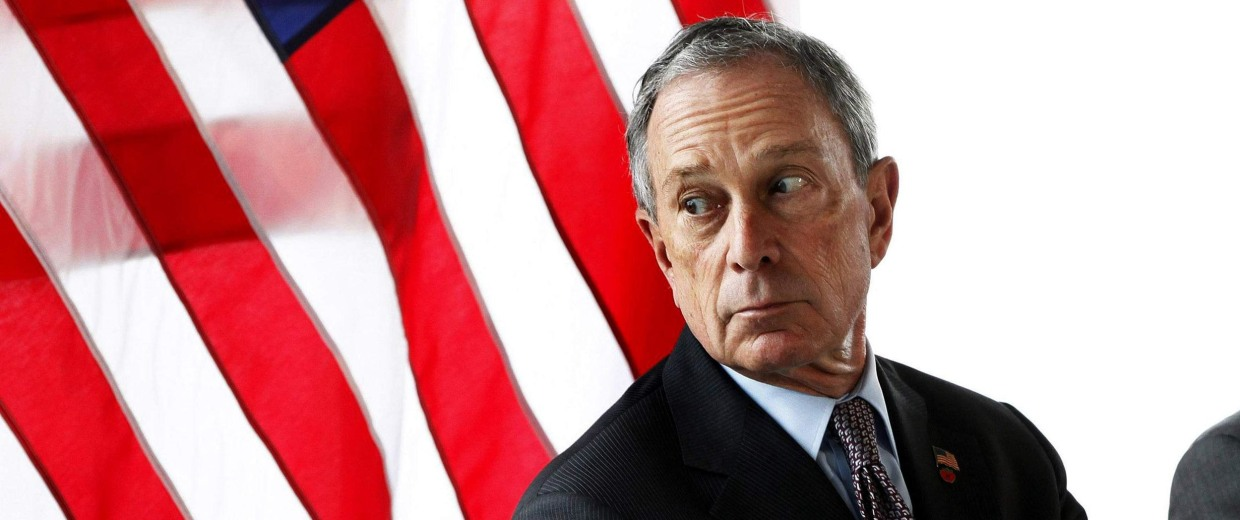 Image: File photo of New York Mayor Michael Bloomberg looking out a window in New York