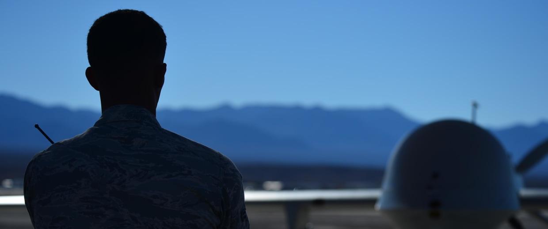 Image: MQ-1 Predator at Creech Air Force Base in Nevada