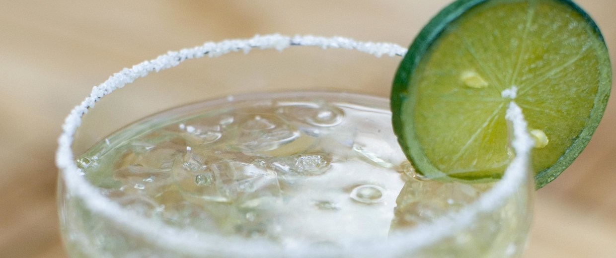 Image: Close-up of a glass of margarita