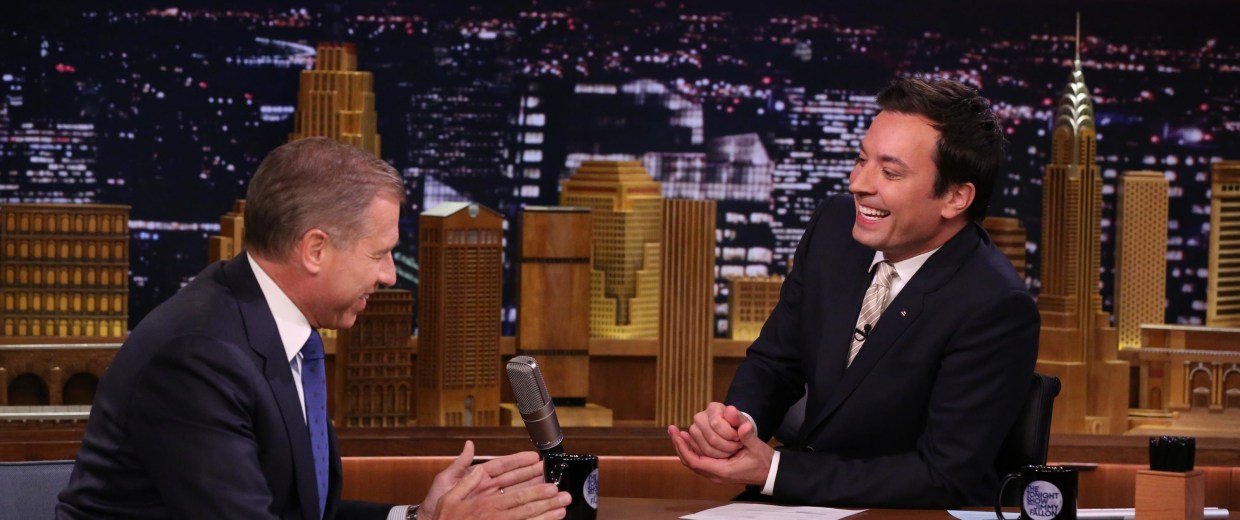 Brian Williams 'raps' on the Tonight Show April 21,2014