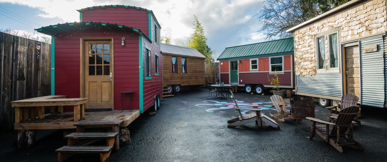 Image: Caravan - The Tiny House Hotel in Portland, Ore., allows guests to try out living in a small self-contained home.