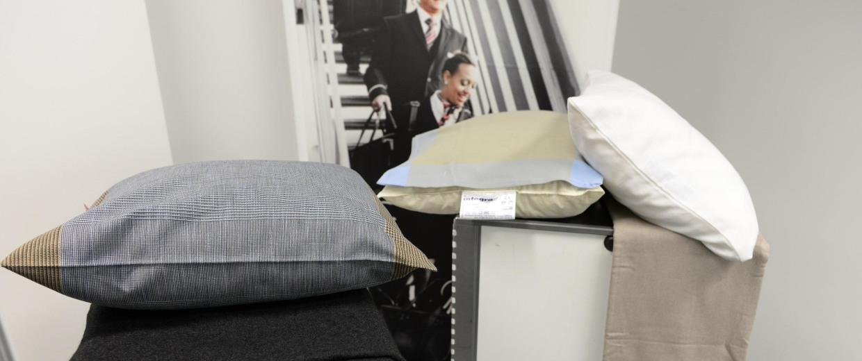 Image: Swiss International Air Lines pillows