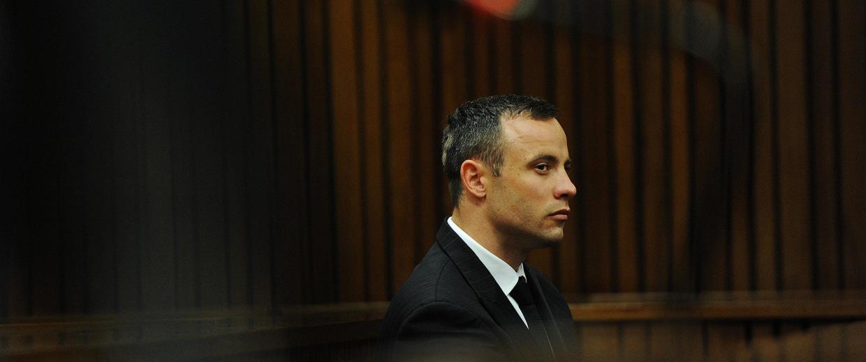 Image: Oscar Pistorius Is Tried For The Murder Of His Girlfriend Reeva Steenkamp