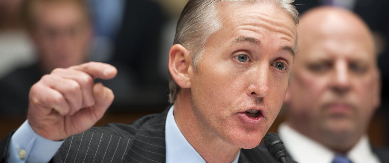 Image: Rep. Trey Gowdy, R-S.C., questions a witness during the House Oversight and Government Reform Committee's hearing on Benghazi on Capitol Hill in Washington, May 8, 2013