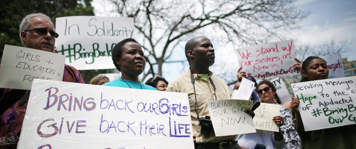 Image: Amnesty International Holds Vigil For Abducted Nigerian School Girls