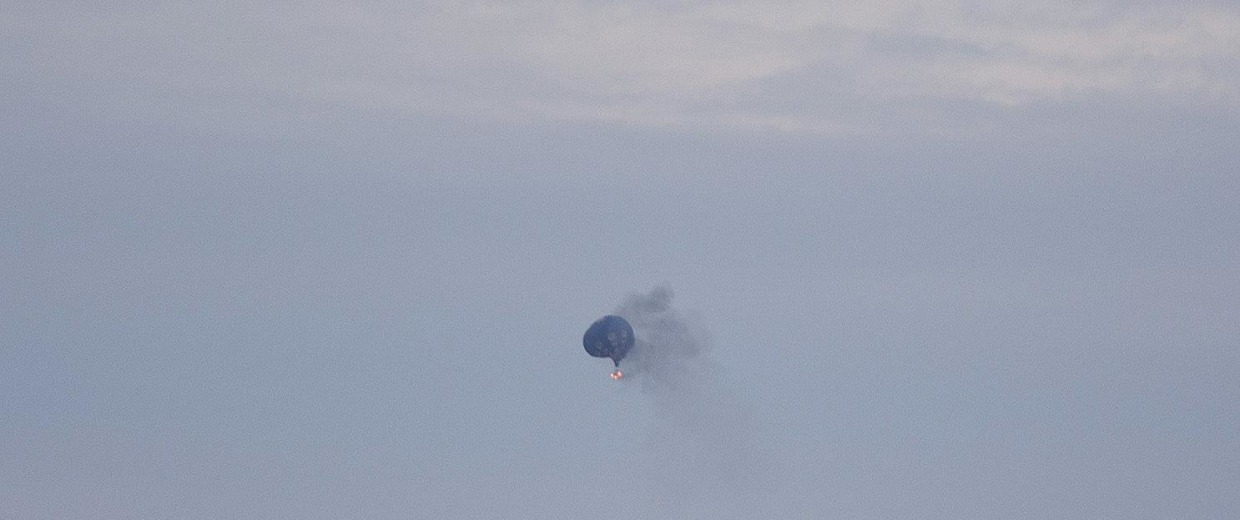 Image: A hot air balloon caught fire and crashed at the Meadow Event Park in Caroline County, Va.