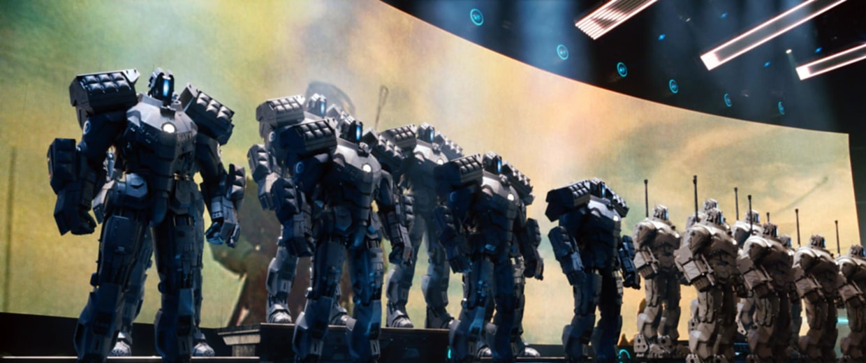 Image: Killer robots in Iron Man 2