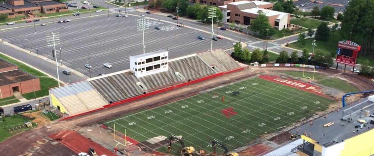 Image: A sinkhole opened up at the Austin Peay State University stadium in Clarksville, Tenn., on May 20.