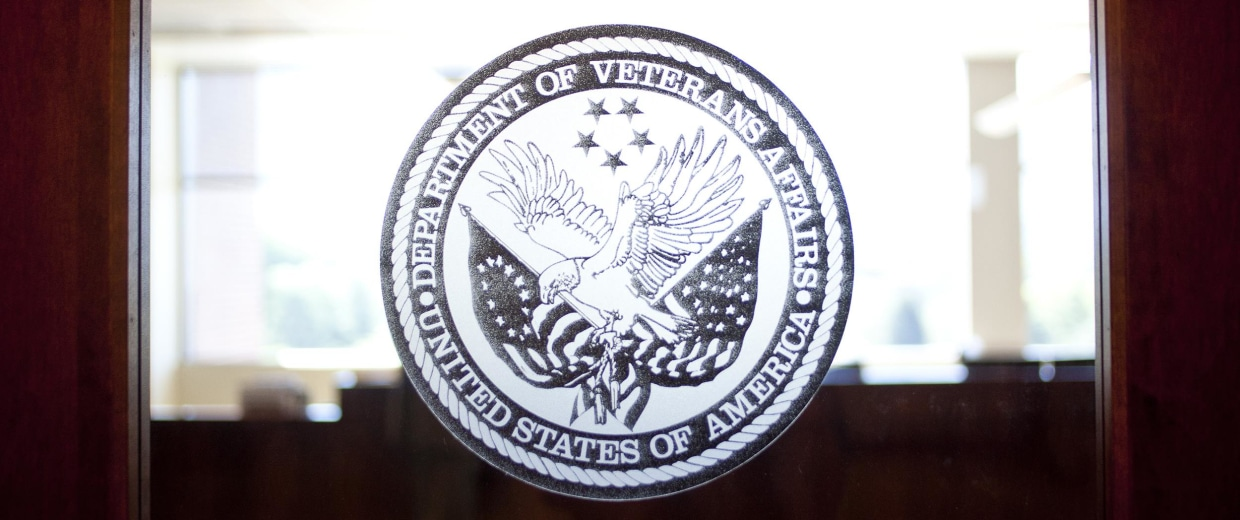Image: A Department of Veterans Affairs office.