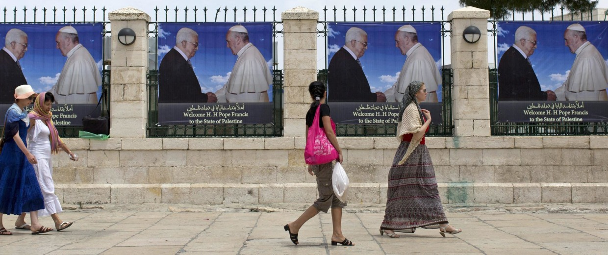 Image: Preparations for Pope Francis visit to Bethlehem