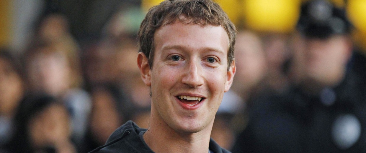 Image: File photo of Mark Zuckerberg speaking to reporters at Harvard University in Cambridge