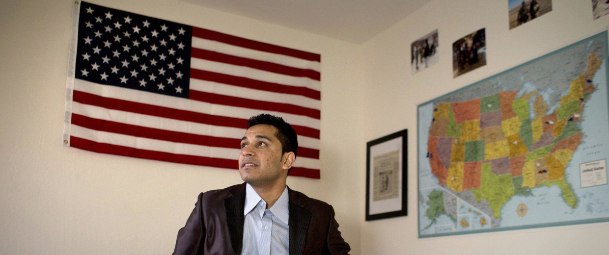 Image: Mohammad sees his bedroom for the first, after fleeing danger in Afghanistan to resettle in the U.S.