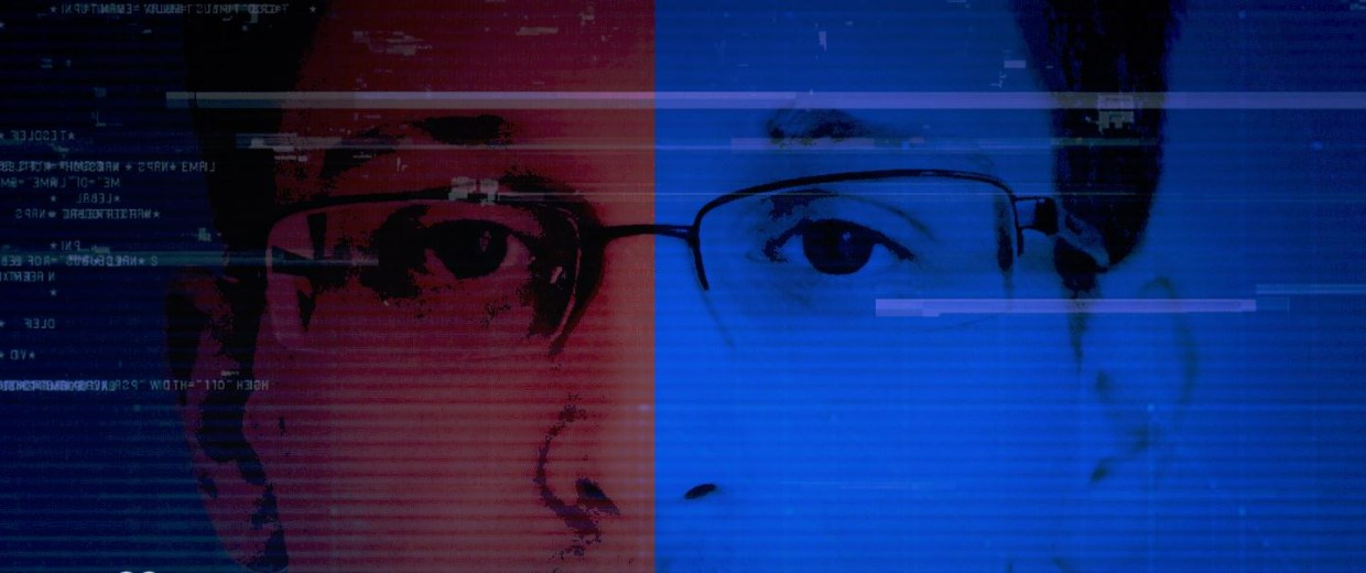 Photo illustration of Edward Snowden