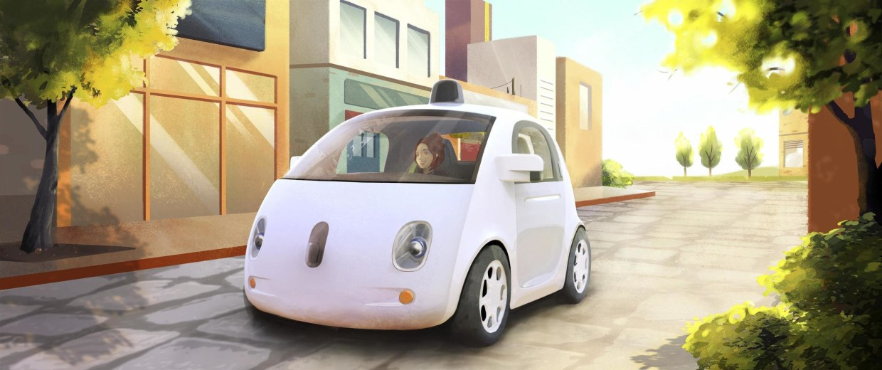 A driver-less car is seen in an artist's rendition provided by Google. The vehicles are making state regulators rewrite the rule of the road.