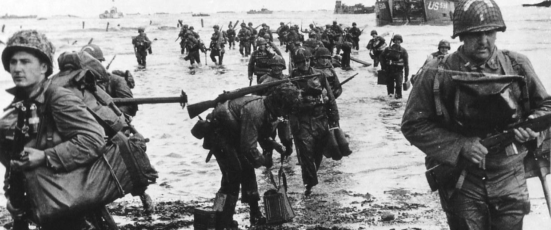 Image: Handout photo of U.S. reinforcements landing on Omaha beach during the Normandy D-Day landings near Vierville sur Mer