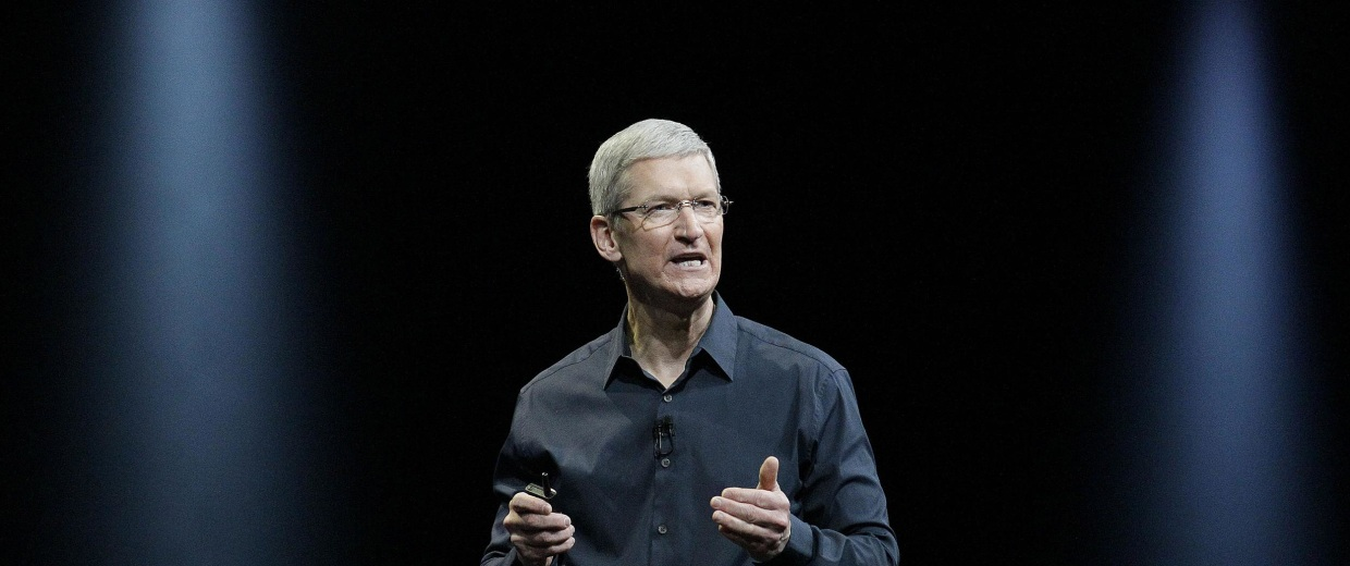 Image: Apple CEO Tim Cook speaks at the Apple Worldwide Developers Conference event in San Francisco