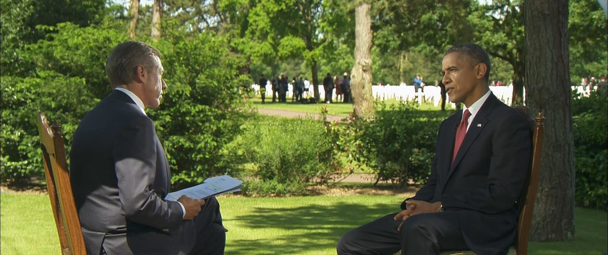 Image: Brian Williams sits down with President Barack Obama