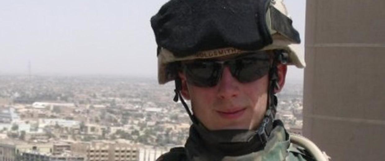 Image: Kris Goldsmith on duty in Baghdad