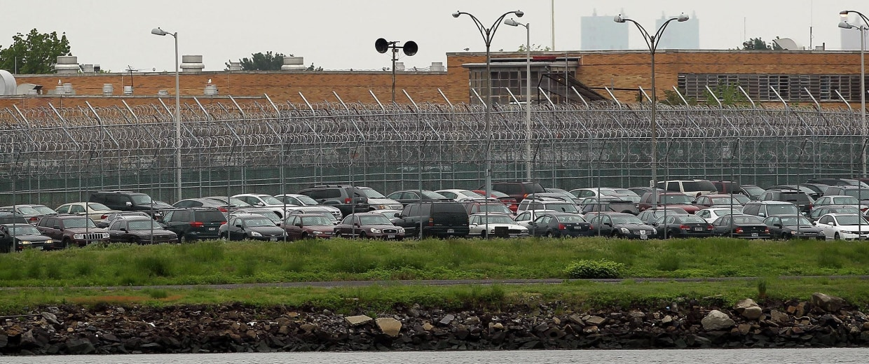 Image: A view of the Rikers Island prison complex on May 17, 2011 in New York City